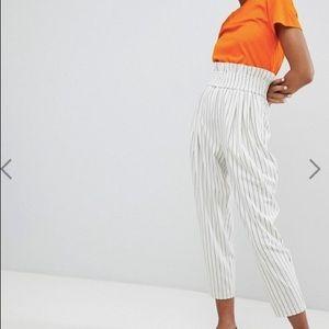 Monki High Waist Stripe Pants